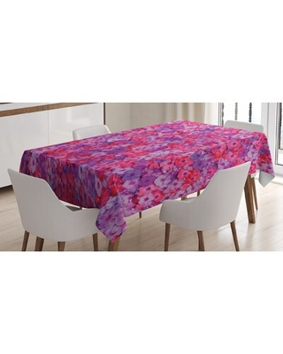 Ambesonne Flower Tablecloth, Flowers Pattern Garden Plants Flowering Aromatic Vibrant Colors Artwork, Rectangular Table Cover For Dining Room Kitchen