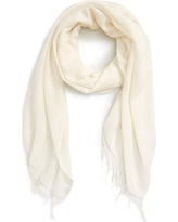 Women's Nordstrom Tissue Weight Wool & Cashmere Scarf, Size One Size - Ivory