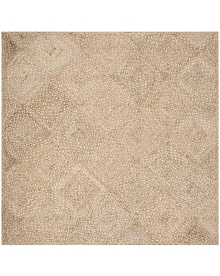 Safavieh Natural Fiber Cirano 6 x 6 Natural Square Indoor Abstract Coastal Handcrafted Area Rug in Brown | NF924A-6SQ