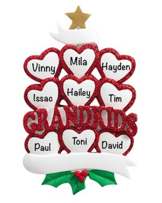 Grandkids Hearts Family Hanging Figurine Ornament The Holiday Aisle®