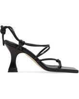 Coco Knotted Leather Sandals - Black - Miista Heels