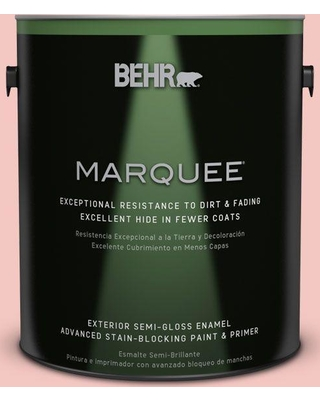 BEHR MARQUEE 1 gal. #M170-2 Prairie Rose Semi-Gloss Enamel Exterior Paint and Primer in One