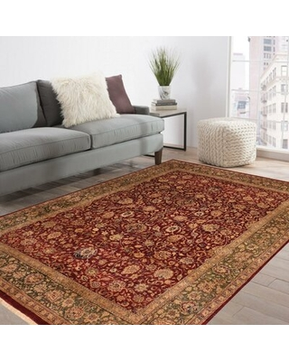 """One-of-a-Kind Roby Hand-Knotted Heritage Red/Brown 7'11"""" x 10'1"""" Wool Area Rug"""