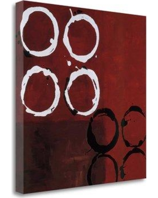 "Tangletown Fine Art 'Red Circles I' Graphic Art Print on Wrapped Canvas CA318024-2020c Size: 30"" H x 30"" W"