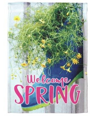 Deals For Dicksons Inc Welcome Spring 2 Sided Polyester 18 X 13 In Garden Flag In Green Size Small Less Than 13 Wide Medium 13 30 Wide Wayfair