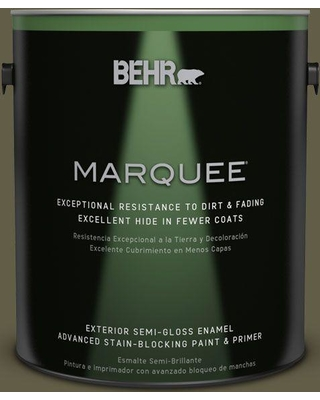 BEHR MARQUEE 1 gal. #MQ6-28 Crushed Oregano Semi-Gloss Enamel Exterior Paint and Primer in One