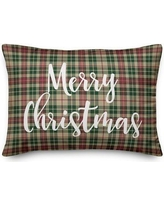 16 Off The Holiday Aisle Abbotsford Oh Christmas Tree In Tartan Plaid Lumbar Pillow X111149030