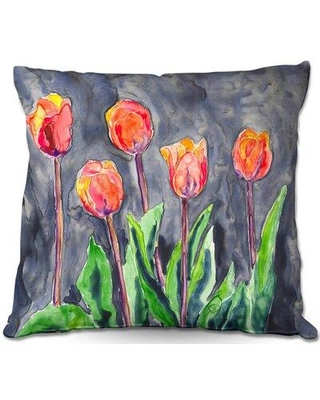 """East Urban Home Couch Tulips Throw Pillow W001649545 Size: 20"""" x 20"""""""