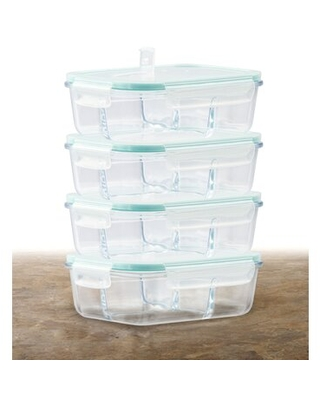 Glass Meal Prep 35 Oz. Food Storage Container