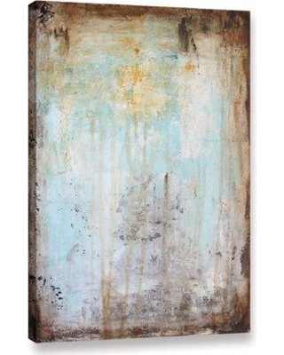 """Union Rustic 'Worn Abstract III' Graphic Art Print on Canvas UNRS1134 Size: 48"""" H x 32"""" W x 2"""" D"""