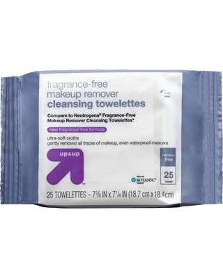 Unscented Facial Wipes - 25ct - Up&Up (Compare to Neutrogena Fragrance-Free Makeup Remover Cleansing Towelettes)