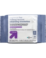 Fragrance Free 25ct Facial Wipes - Up&Up (Compare to Neutrogena Fragrance-Free Makeup Remover Cleansing Towelettes)