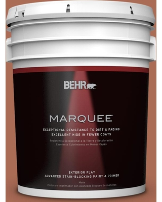 BEHR MARQUEE 5 gal. #BIC-45 Airbrushed Copper Flat Exterior Paint and Primer in One