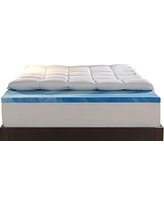 Sleep Innovations 4-Inch Dual Layer Mattress Topper. 10-year limited warranty. Made in the USA. Twin Size