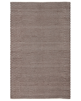 Hand Crafted 5' x 8' Area Rug, Brown