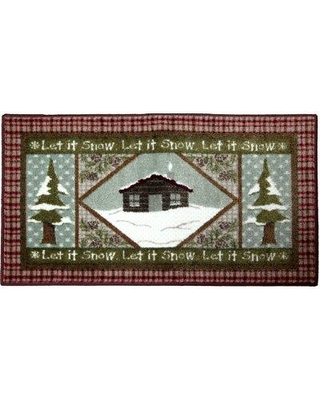 The Holiday Aisle Chester Snowy Cabin Red/Green Area Rug W000393977