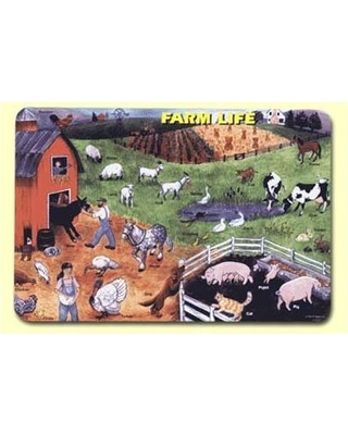 """Painless Learning Placemats Farm Life 17.5"""" Placemat (Set of 4) FAN-1"""
