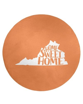 Home Sweet Virginia Poly Chenille Rug East Urban Home Rug Size: Round 5'