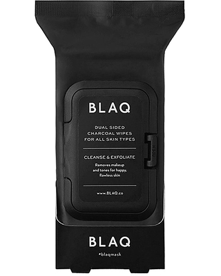 BLAQ Charcoal Face Wipes.
