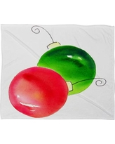 Deny Designs Laura Trevey Deck The Halls Plush Fleece Throw Blanket 51754-fle Size: Large