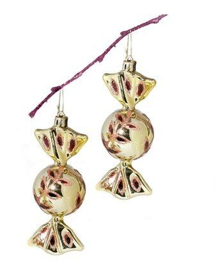 Discover Deals On The Holiday Aisle 5 Handpainted Flower Shiny Candy Christmas Ball Ornament Plastic In Gold Size 4 L X 4 W X 7 H Wayfair 700079