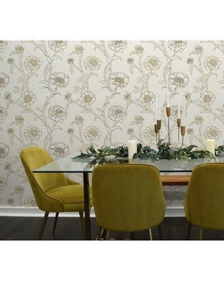 Find Big Savings On Rosdorf Park Jeremy 16 5 L X 20 5 W Smooth Peel And Stick Wallpaper Roll X111156788 Color Gold Cream