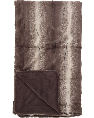 Throw Blankets Saro Lifestyle 50''X60 Dark Cappuccino