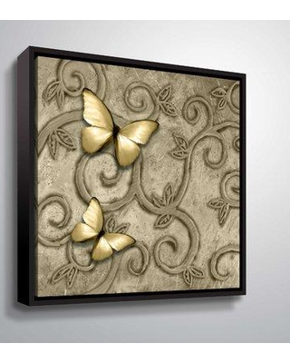 """Ophelia & Co. 'Butterfly VII' Graphic Art Print OPCO5024 Format: Black Framed Size: 36"""" H x 36"""" W x 2"""" D"""