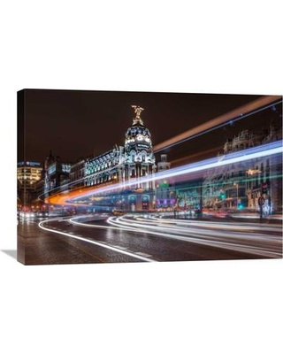 "Global Gallery 'Madrid Traffic' by Javier De La Photographic Print on Wrapped Canvas GCS-461837--142 Size: 20.1"" H x 30"" W x 1.5"" D"