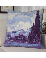 Red Barrel Studio Morley Wheat Field with Cypresses Euro Pillow RDBT2348