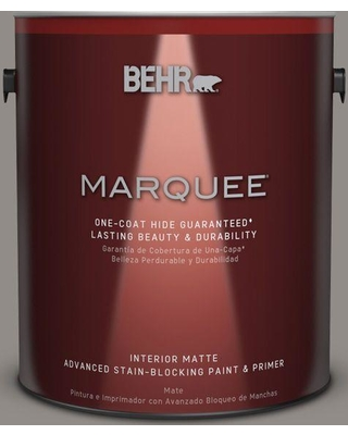 BEHR MARQUEE 1 gal. #790F-4 Creek Bend One-Coat Hide Matte Interior Paint and Primer in One