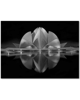 """Trademark Art 'Black Contrast' Graphic Art Print on Wrapped Canvas 1X03206-C Size: 18"""" H x 24"""" W"""