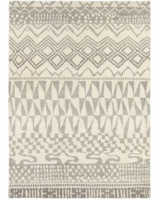 "Hand Knotted Malulani New Zealand Wool Area Rug - 5'7"" x 7'10"" (5'7"" x 7'10"" - Beige)"