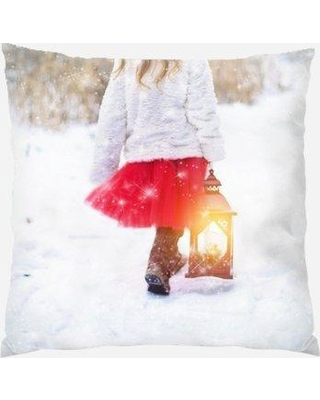 The Holiday Aisle Pumphrey Winter Indoor/Outdoor Canvas Throw Pillow X112183075