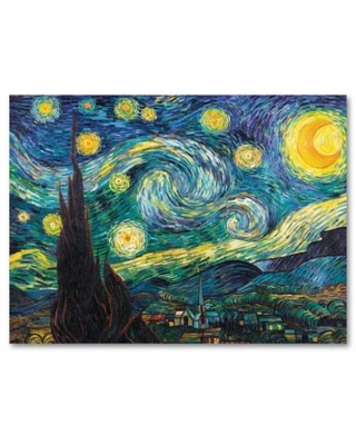 """Starry Night 18 x 24 Canvas Wall Art by Vincent van Gogh, Blue, 18""X24"""""