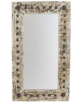 """Gracie Oaks Rectangle Handcrafted Accent Mirror GRKS3061 Size: 36"""" H x 30"""" W x 2"""" D"""