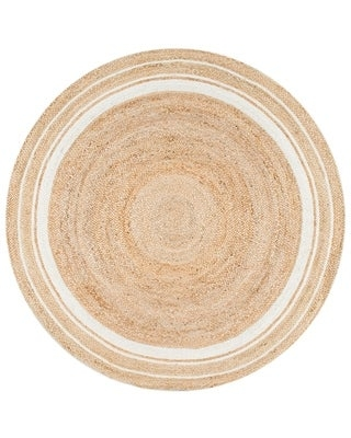 The Curated Nomad Pynchon Braided Jute Area Rug (8' Round - Off-White)