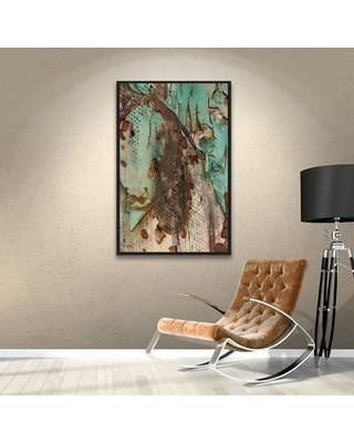 """Williston Forge Eco Horse Painting Print on Wrapped Canvas WLFR3398 Size: 8"""" H x 12"""" W x 2"""" D"""