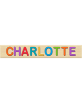 Personalized Name Puzzle - Charlotte - Early Learning Toys for Babies - Fat Brain Toys