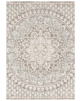 """Cosette Center Floral Medallion High-Low Pile Area Rug (9'10"""" x 12'10"""" - Ivory/ Pink)"""