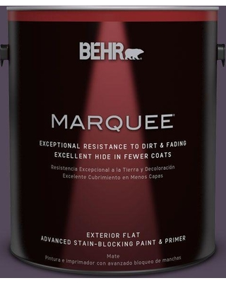 BEHR MARQUEE 1 gal. #PPU17-01 Mata Hari Flat Exterior Paint and Primer in One