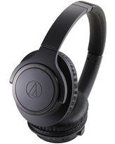 AudioTechnica ATH-SR30BT Wireless Over-Ear Headphones with Built-In Microphone and Controls (Black)