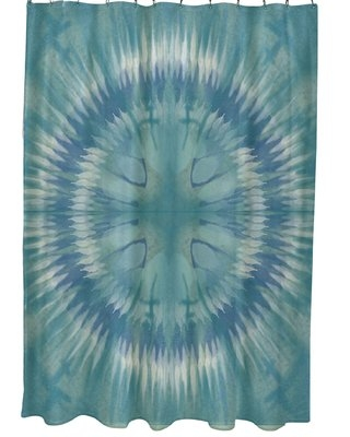 Armstrong Shibori Burst Single Shower Curtain Bungalow Rose Color: Green