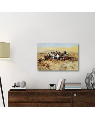 """East Urban Home 'A Desperate Stand' Graphic Art Print on Wrapped Canvas ERNI8620 Size: 24"""" H x 36"""" W x 1.5"""" D"""