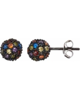 Sophie Miller Cubic Zirconia & Lab-Created Blue Spinel Ball Stud Earrings, Women's, multicolor