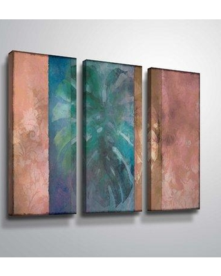 """Bay Isle Home 'Palm Frond Abstract' Graphic Art Print Multi-Piece Image on Canvas BF207909 Size: 24"""" H x 36"""" W x 2"""" D Format: Wrapped Canvas"""