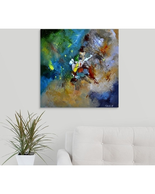 """GreatBigCanvas 24 in. x 24 in. """"Abstract 66018002"""" by Pol Ledent Canvas Wall Art, Multi-Color"""