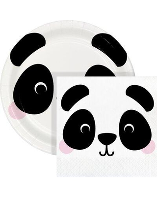 Don T Miss These Deals On Creative Converting Panda Party Dessert Kit Serves 24 Guests Heavy Duty Paper In White Wayfair Dtcpndaf2c