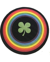 The Holiday Aisle Sunglow Rainbow Saint Patrick's Day Green/Black Area Rug X111479243 Rug Size: Round 5'