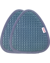 "2pk Gray Waffle Silicone Pot Holder (7.5""x8.25"") - T-Fal, Charcoal Heather"